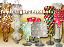 Capiz Lamps Lighting Products